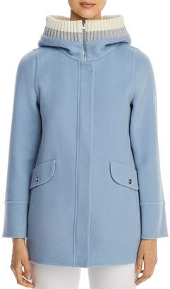 Herno Rib-Knit Hooded Cashmere Coat - 100% Exclusive
