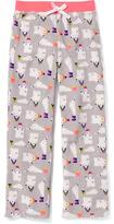 Old Navy Patterned Fleece Sleep Pants for Girls