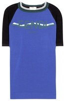 Fendi Knitted cotton-blend T-shirt
