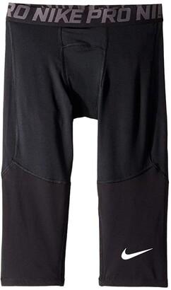 Nike Kids Pro 3/4 Tights (Little Kids/Big Kids) (Black/Black/White) Boy's Clothing