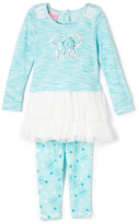 Mint Bow Ruffle Top & Pants - Toddler