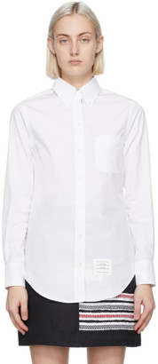 Thom Browne White Classic Point Collar Shirt