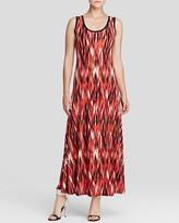 Calvin Klein Ikat Print Maxi Dress