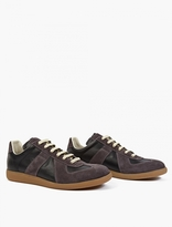 Maison Margiela Black Leather and Suede Replica Sneakers