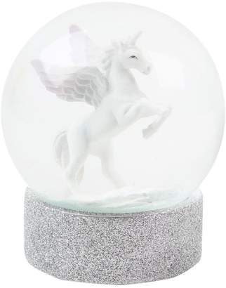 Womens Paperchase 100mm Unicorn Christmas Snow Globe