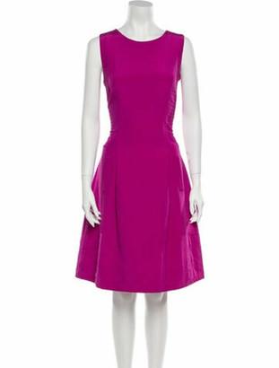 Oscar de la Renta 2011 Knee-Length Dress Pink