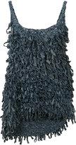 Spencer Vladimir - fringed denim mini dress - women - Cotton - S