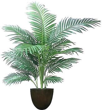 "One Kings Lane 54"" Palm Tree with Bell Planter - Faux - arrangement, green; vessel, black"