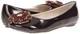 Laura Ashley LA21146 (Little Kid/Big Kid) (Brown Patent) - Footwear