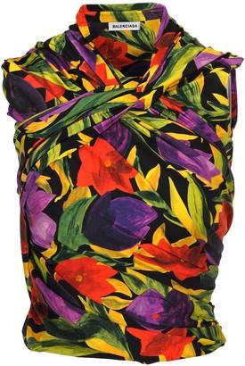 Balenciaga Sleeveless Floral Printed Top