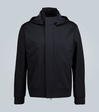 Harris Wharf London Hooded virgin wool jacket