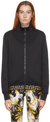 Versace Underwear Black Medusa Zip Hoodie