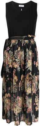 Liu Jo Floral-Print Pleated Skirt