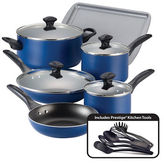 Farberware Nonstick Aluminum Cookware Set- 15-Piece