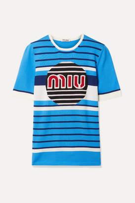 Miu Miu Wool-jacquard Sweater - Blue
