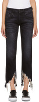 R 13 Black Boy Straight Jeans