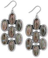 Lucky Brand Silver-Tone Mother-of-Pearl-Look Chandelier Earrings