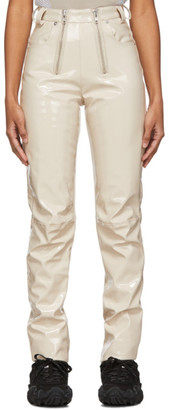 GmbH Beige Vinyl Frey Trousers