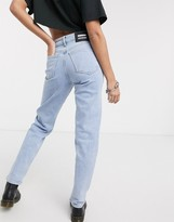 Dr. Denim Stevie mid rise straight leg authentic fit jean in light wash blue