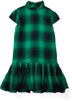 Ralph Lauren Plaid Twill Mockneck Dress