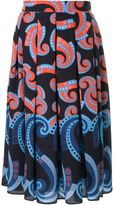 Holly Fulton Art Deco print pleated skirt