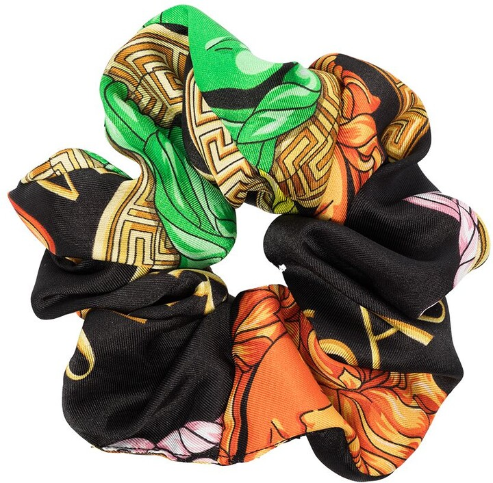 Thumbnail for your product : Versace Logo-Print Elasticated Scrunchie