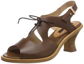 Neosens Women's S980 Restored Skin Cuero/Negreda Open Toe Sandals, Brown