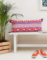 bombay duck Picado Embroidered Cushion 80 x 36cm