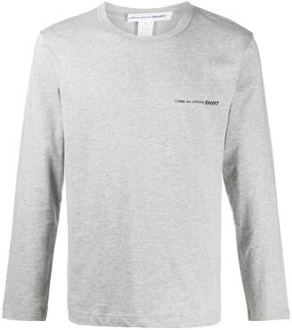 Comme des Garçons Shirt printed logo long-sleeve T-shirt
