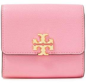 Tory Burch Kyra Logo-embellished Color-block Pebbled-leather Wallet