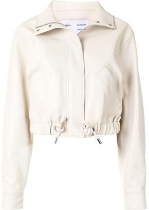 Proenza Schouler White Label Zip-Up Leather Jacket
