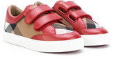 Burberry House Check sneakers - kids - Cotton/Calf Leather/rubber - 23