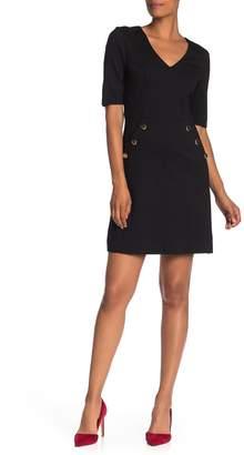 Trina Turk Valentina V-Neck Pocket Sheath Dress