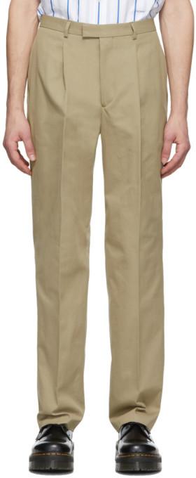 Noah NYC Tan Cotton Suit Trousers