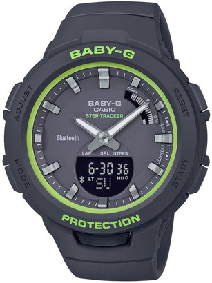 Baby-G BSAB100SC-1A Bluetooth Step Tracker White with Lime Green