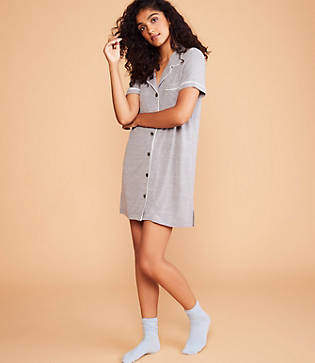 Lou & Grey Pajama Shirtdress