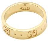 Gucci 18K Yellow Gold Icon Ring Size 8