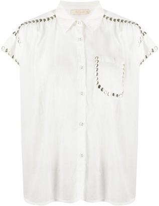 Mes Demoiselles Short Sleeved Studded Shirt