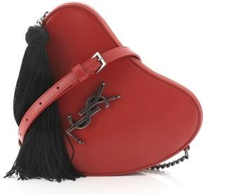 Saint Laurent Love Heart Tassel Chain Bag Leather Small