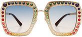 Gucci Embellished Square Sunglasses