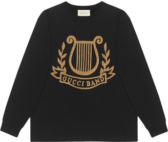 Gucci Oversized T-shirt with lyre pach