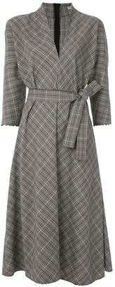 Martha Medeiros Luzia midi checked dress