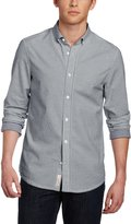 Original Penguin Men's Oxford With Gingham Rollover Detail Long Sleeve Shirt