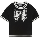 Moschino Intarsia Cotton Sweater - Black