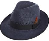 Christys' Notting Hill Snap Brim Panama Hat, Navy