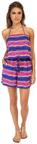 Tommy Bahama Paint Stripe Short Romper Cover-Up