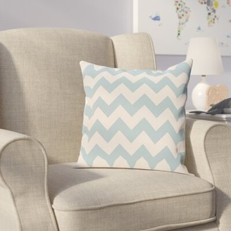 "Viv + Rae Milo Square Pillow Cover and Insert Size: 16"" H x 16"" W, Color: Light Blue"