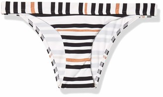 Jets Women's Vista Stripe Mini Bikini Bottom Swimsuit