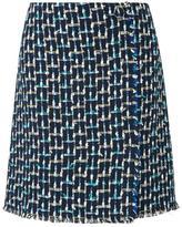 LK Bennett Vetti Blue Skirt