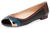 Fendi Monster Leather Ballet Flat